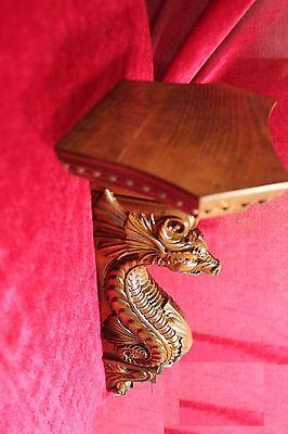 """21"""" Large Wooden wall shelf/Corbel/bracket Dragon.  Carved from alder wood. 4"""