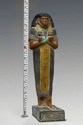 EGYPT EGYPTIAN Large STATUE ANTIQUES King Amenemhat 6.Kg STONE Middle Kingdom BC 2
