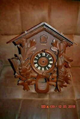 Vintage 8 day Heco Cuckoo Clock Box only for parts 2