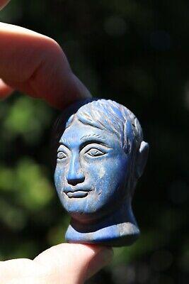 Head of the Roman Emperor, carved lapis lazuli stone, 100 BC-100 AD 8