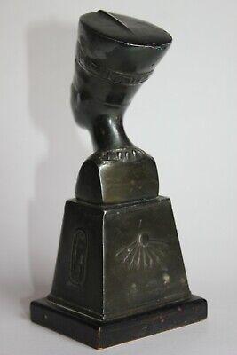19th Century - Antique Egyptian Bronze Nefertiti Statue 5