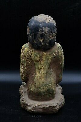 Vintage Statue of Egyptian Woman Grinding Grain rare antique stone made in Egypt 4
