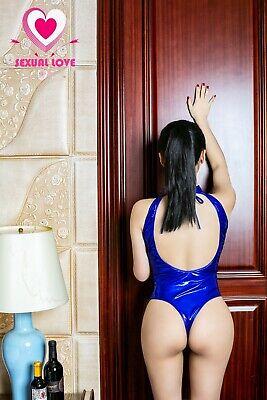 Completo Seno Scoperto Body Scollato Latex Aderente Mistress Dominatrice Lucido 11