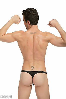 Slip String Transparent Noir Sexy Homme Viril Thong Man Underwear Uomo Lenceria 5
