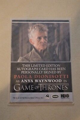 Game Of Thrones Season 7 - Trading Cards Paola Dionisotti Autograph Card 2