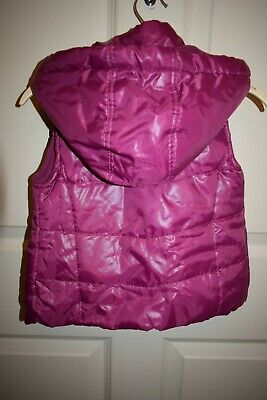 New Girls Purple Hooded Gillet Size 2-3 Years 4