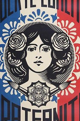 SHEPARD FAIREY Liberté Egalité Fraternité LITHO OFFSET SIGNEE OBEY GIANT MINT 6