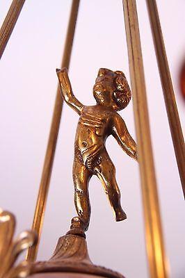 Vintage Brass/Bronze Spherical Chandelier Cherub/Masks/Stars 10