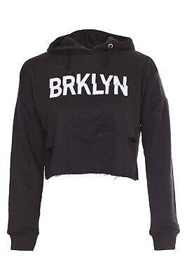 New Kids Girls BRKLYN Front Ripped Crop Hoodie Sweatshirt Pullover Top 2