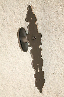 Heavy Cast Iron door Pull handle knob antique finish ornate victorian rustic 3