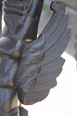 19C French Fantasy Gothic Carved Oak Lamps Griffin/Gargoyle/Dragon 7