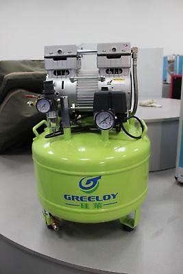 40L 800W Dental Noiseless Quiet Oil Free Oilless Air Compressor Motors 155L/min 2