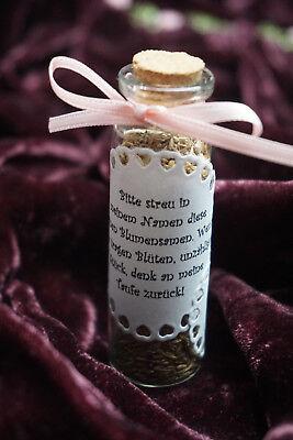 Gastgeschenk Hochzeit Blumensamen Einschulung Taufe Kommunion Reagenzglas Glas
