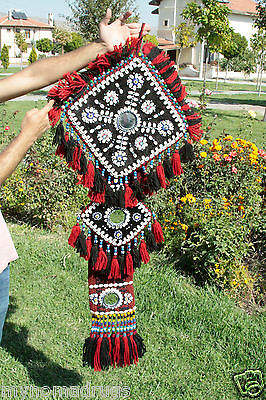 Antique Camel or Tent Decoration with Blue Eyes Textile from SE of Turkey 11