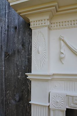 18th Century Fireplace Mantel Chip Carved Pinwheels, Ovals, W Added Swags,Basket 6