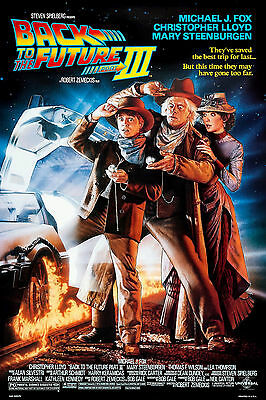 New Back To The Future 3 Iii Three Movie Original Classic Print Premium Poster 2