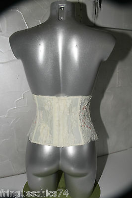 luxueux serre taille bustier dentelle ivoire JANET REGER LONDON T M valeur 445€ 2