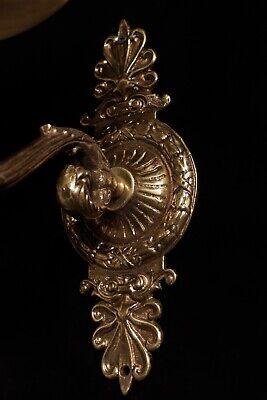 pair of  spanish Alabaster wall lights sconces solid  bronze candelabra 8