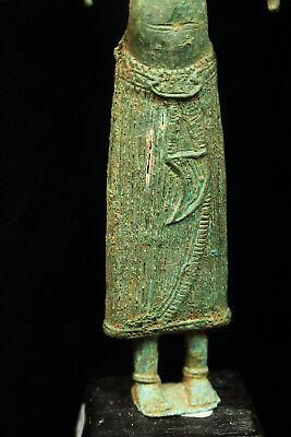 Rare Ancient Khmer Bronze Statue of Prajnaparamita 12th c Bayon Style Angkor Per 4
