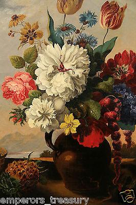 Early 20th Century European Flower Still Life Oil Painting 4