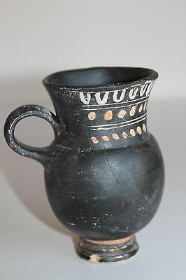 ANCIENT GREEK THISTLE MUG POTTERY 4th CENTURY BC 4