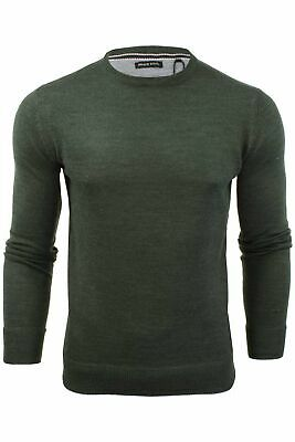 Mens Light Knitted Crew Neck Jumper Sweater Jersey Long Sleeve Brave Soul Parsec 7