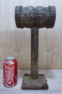 Antique Architectural Cast Iron Double Light Fixture Ornate HD Bracket Lamp 4
