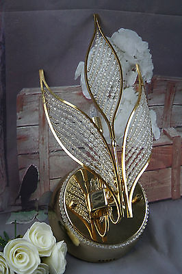 Rare Vintage Italian Wall sconce early 1980's Autumn leaves glass pearls 2
