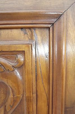 French Antique Pair Carved Wood Cupboard Door Panel Gothic Chimera Griffins 9