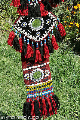 Antique Camel or Tent Decoration with Blue Eyes Textile from SE of Turkey 3