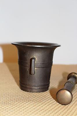 Mörser Schlegel Stössel antik Pistill Küche Pulver Deko Tabletten #6254 2