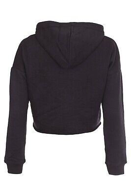 New Kids Girls BRKLYN Front Ripped Crop Hoodie Sweatshirt Pullover Top 3