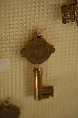 Collection of Antique Hotel Room Keys! Mounted & NICE! w/ LELAND HOTEL KEY! 11