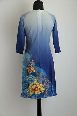 COLORS /& SIZES AVAILABLE! Vietnamese Ao Dai Cach Tan with Cherry Blossoms