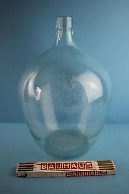 Alter  Glasballon Transparent Ca 10 Liter Nr 91 2