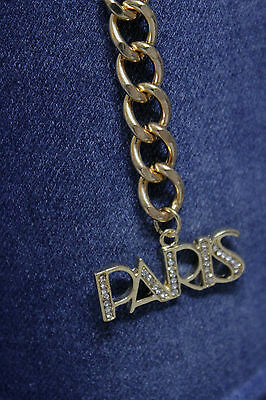 883e6ee33b3 ... Nouveau Femme Mode Cool Ceinture Hanche Taille or Chaîne Métallique  Paris Charme 9