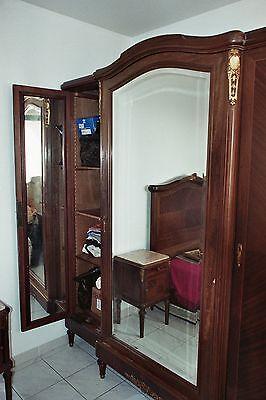 Chambre A Coucher Lits Jumeaux Xixe Bois De Rose Sur Noyer