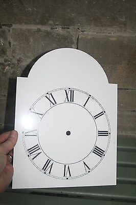 Vintage Enamel Style Clock Face   Replacement Painted On Aluminium Vvgc 8