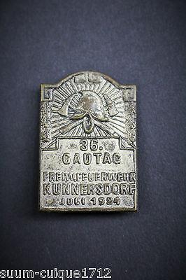 Veranstaltungsabzeichen 36.Gautag Feuerwehr Kunnersdorf 1924 2