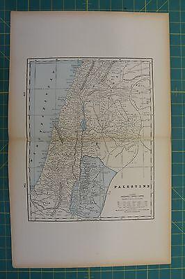 Palestine Indian Empire Vintage Original 1893 Columbian World Fair Atlas Map