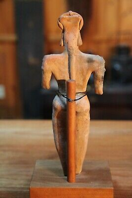 Pre Columbian Pottery Figure of Standing Woman 4