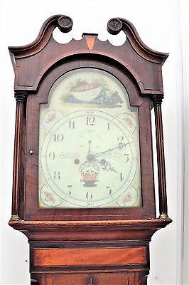 Georgian 8 day Grandfather Clock 4