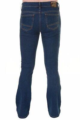 Mens Run & Fly 60s 70s Vintage Blue Stonewash Stretch Denim Slim Bootcut Jeans 3