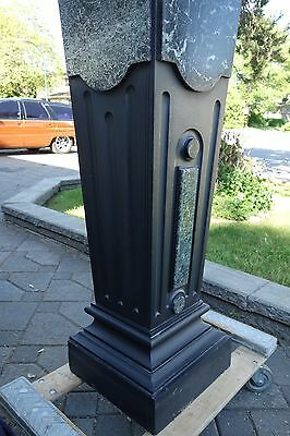 French Art Deco Period Monumental Marble/Slate Pedestal 5