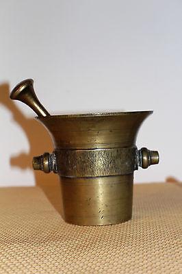 Mörser Schlegel Stössel antik Pistill Küche Pulver Deko Tabletten #6255