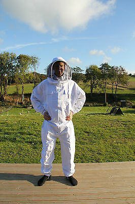 Apiary Additions Bee Suit with Fencing Veil and Leather Gloves - UK Stock 260gsm