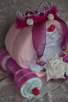 Geschenke Windeltorte Windelkutsche Kutsche Prinzessin Baby