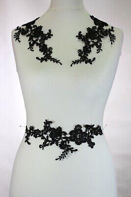 2 x Floral lace Applique / decorative sewing lace motifs 11 different colours #1 4