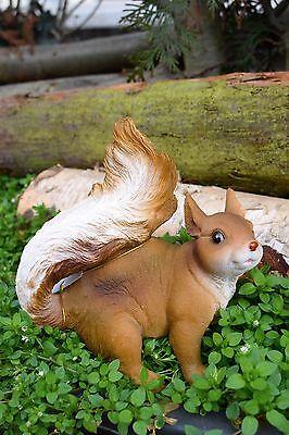 Eichhörnchen Tierfigur Skulptur Dekoration Garten Wohnung Nagetiere