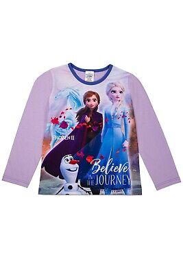 Offical Girls Disney Frozen II Pyjama Anna Elsa Olaf Premium PJs Sleepsuit Set 2